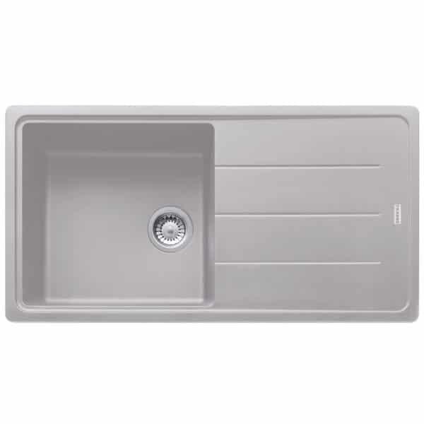 Franke-Boston-BFG-611-97-Aluminium-1-Bowl-Drainer-Coloured-Sinks-114.0276.118
