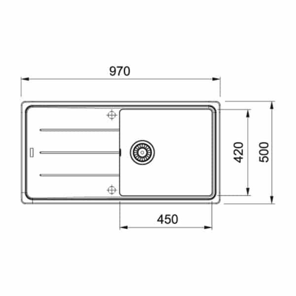 Franke-Boston-BFG-611-97-Aluminium-1-Bowl-Drainer-Coloured-Sinks-114.0276.118-b