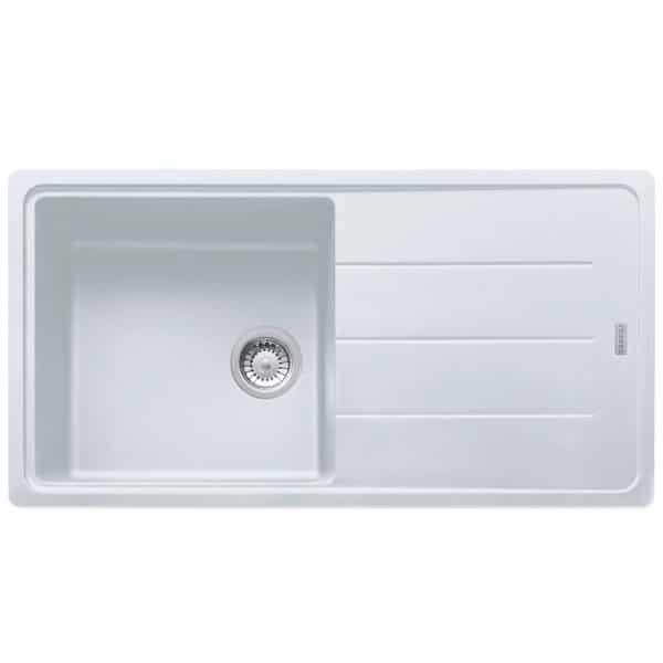 Franke-Boston-BFG-611-97-White-1-Bowl-Drainer-Coloured-Sinks-114.0276.119
