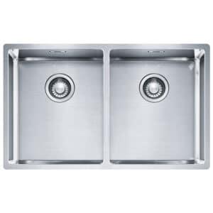 Franke-Box-BXX-220-120-34-34-Satin-Stainless-Steel-2-Bowl-Sinks-127.0370.188