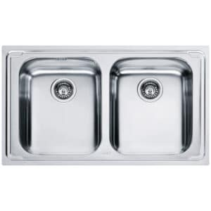 Franke-Logica-Line-LLX-620-L-Inox-Satinato-2-Bowl-Drainer-Stainless-Steel-Sinks-101.0153.292