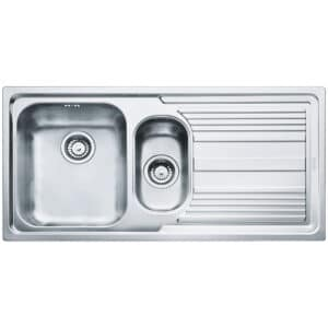 Franke-Logica-Line-LLX-651-Inox-Satinato-1.5-Bowl-Drainer-Stainless-Steel-Sinks-101.0085.810