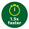 Philips 1.5 Times Faster than an Oven Icon