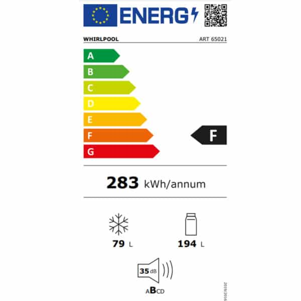 Whirlpool-Built-In-Fridge-ART65021-Energy-Label