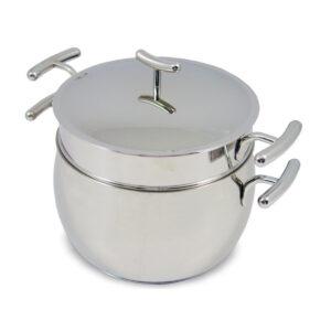 Silampos yumi low tutti pasta pot and sieve-0201100