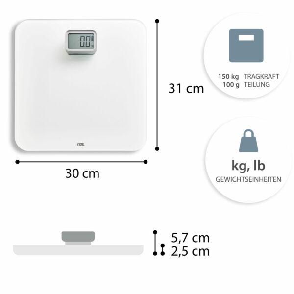 ADE Kira Digital Bathroom Scale BE2008 c