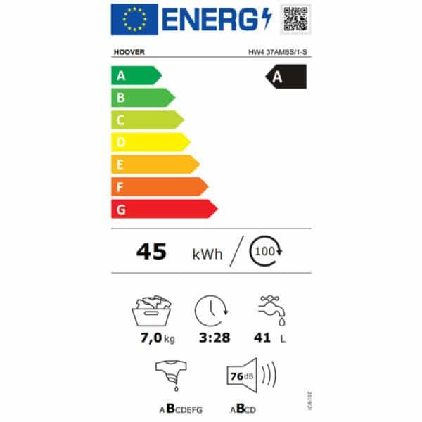 Hoover H-Wash 500 Washing Machine 31010300 - Energy Label
