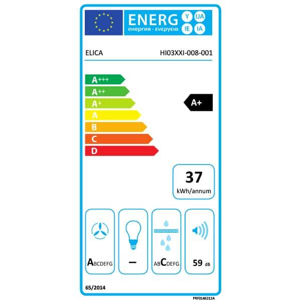 Elica NikolaTesla Switch Aspiration Hob PRF0146212A - Energy Label