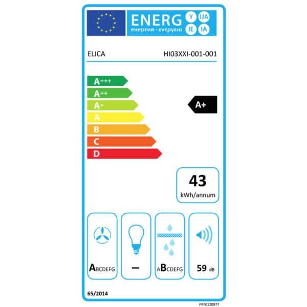 Elica-Nikolatesla-One-BL-A-83-Aspiration-Hobs-PRF0120977-Energy-Label