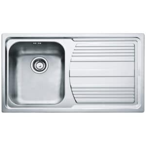 Franke-Logica-Line-LLX-611-L-Inox-Satinato-1-Bowl-Drainer-Stainless-Steel-Sinks-101.0085.775