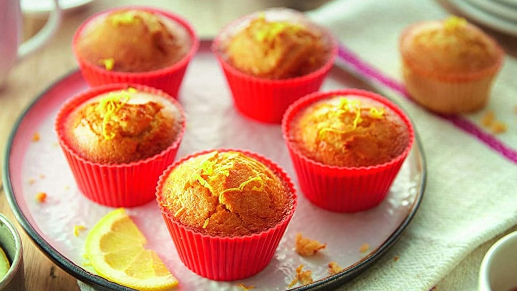Silicone Muffin Cups - Philips Baking Master Kit HD9925 01 -b