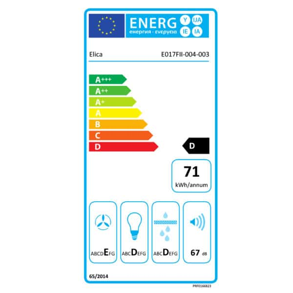 Energy Label - Elica Era C Built In Kitchen Hood PRF0166823-E